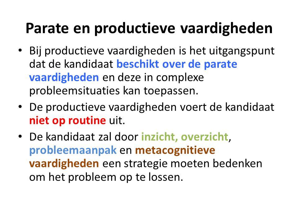 Parate en productieve vaardigheden
