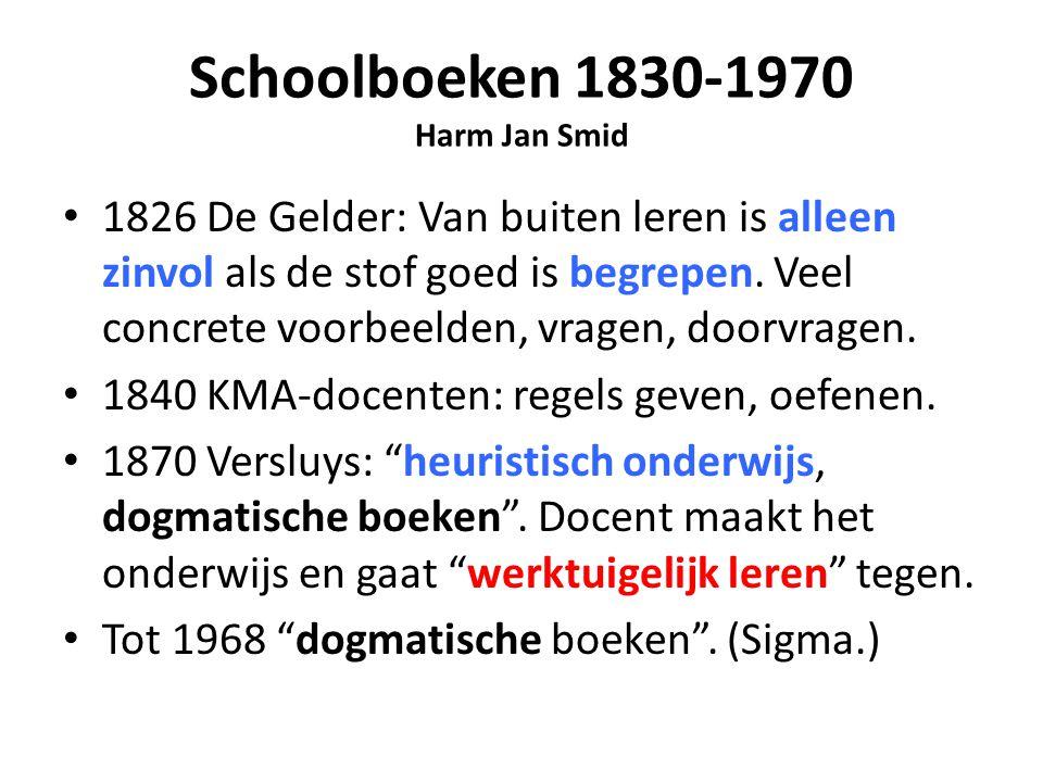 Schoolboeken 1830-1970 Harm Jan Smid