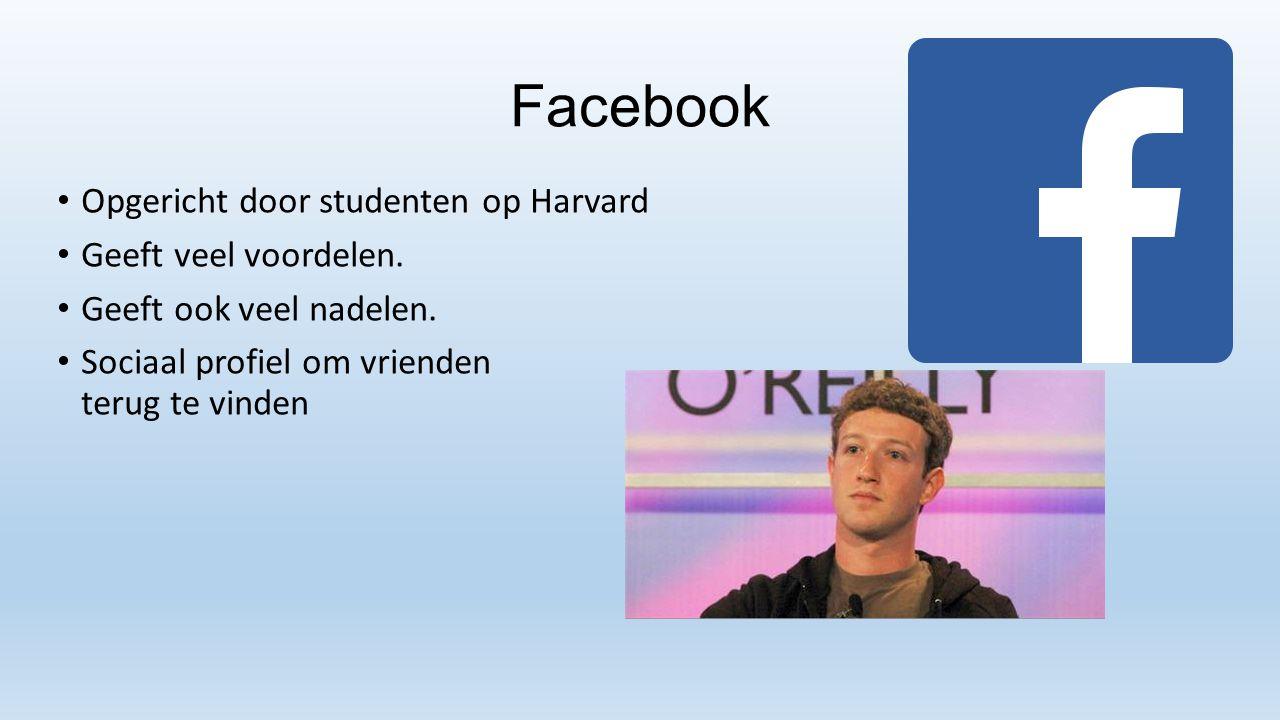 Facebook Opgericht door studenten op Harvard Geeft veel voordelen.