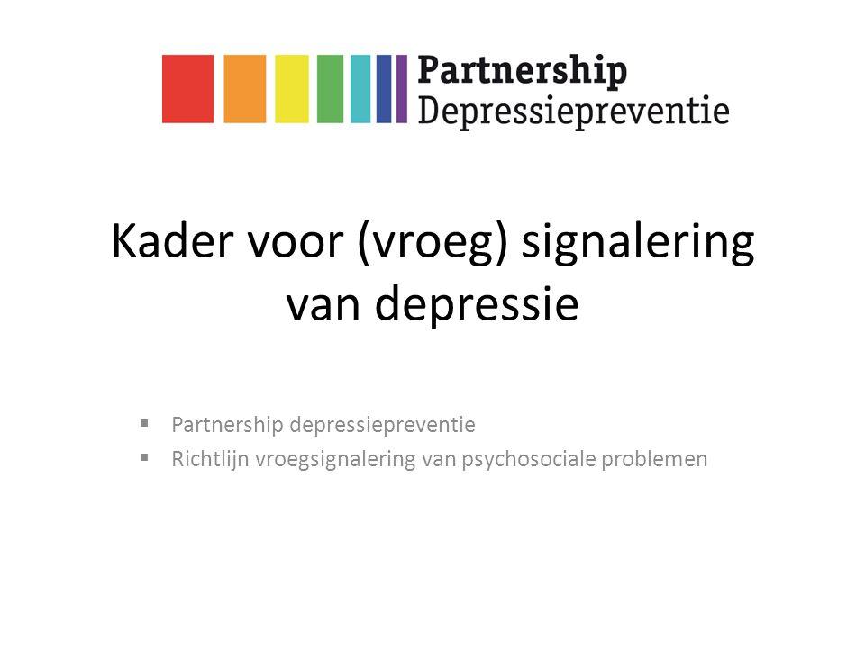 Kader voor (vroeg) signalering van depressie
