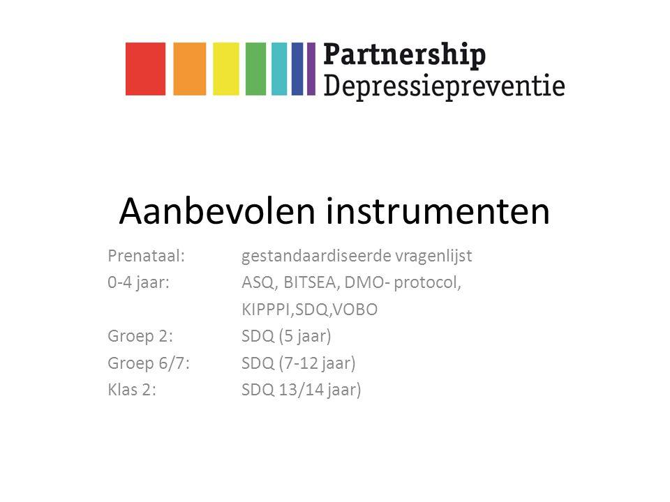 Aanbevolen instrumenten