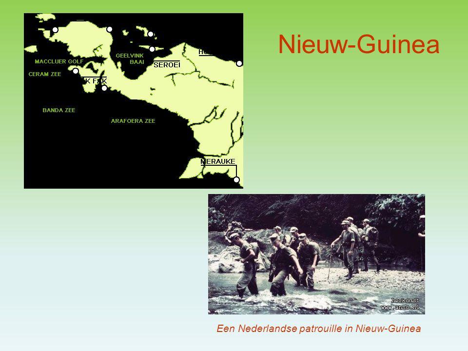 Nieuw-Guinea Een Nederlandse patrouille in Nieuw-Guinea