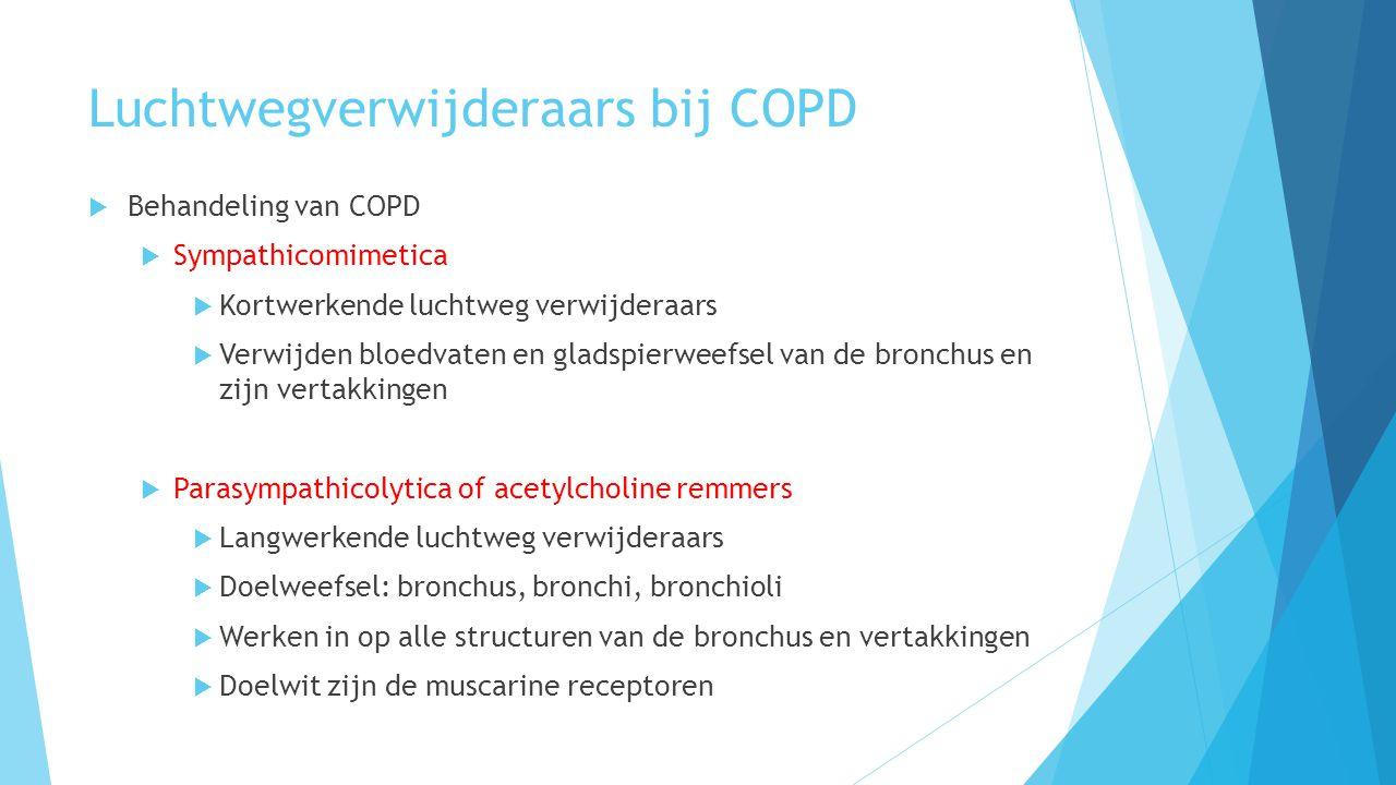 Luchtwegverwijderaars bij COPD