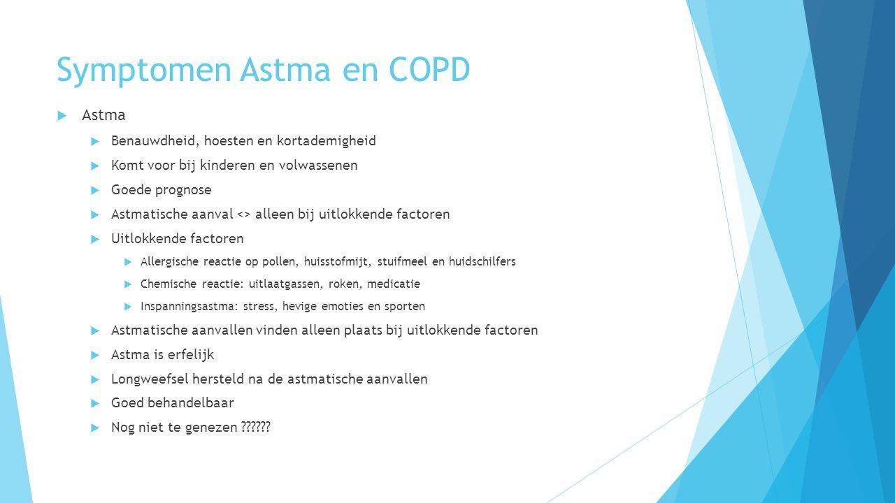 Symptomen Astma en COPD