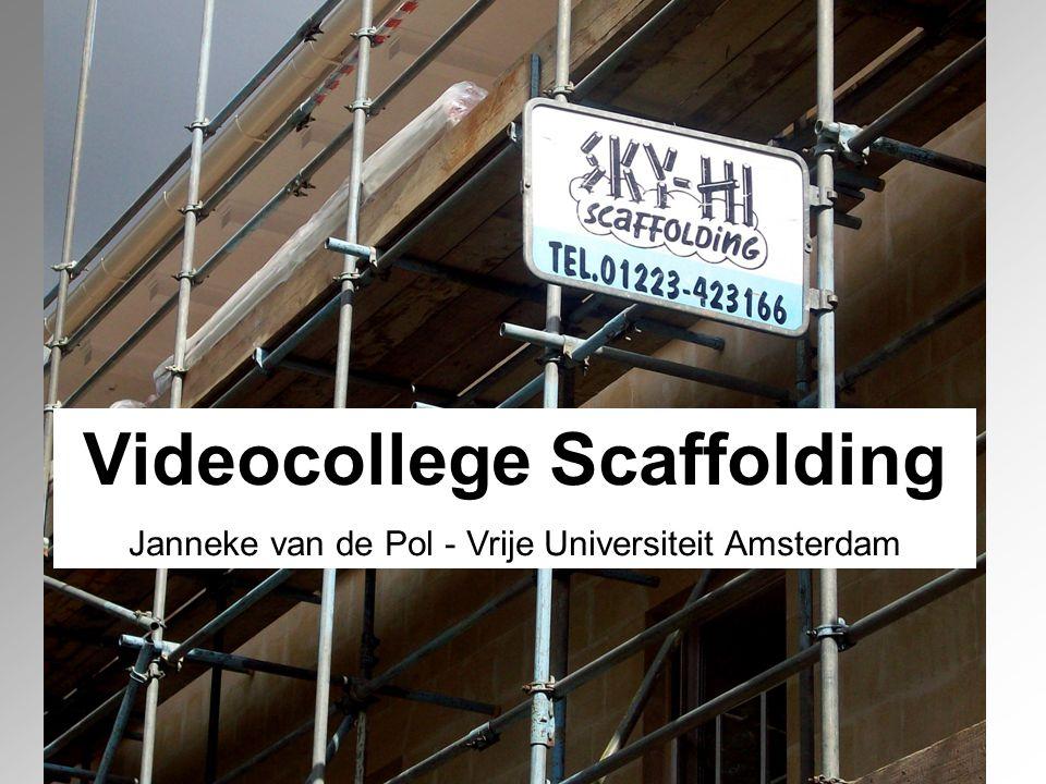 Videocollege Scaffolding