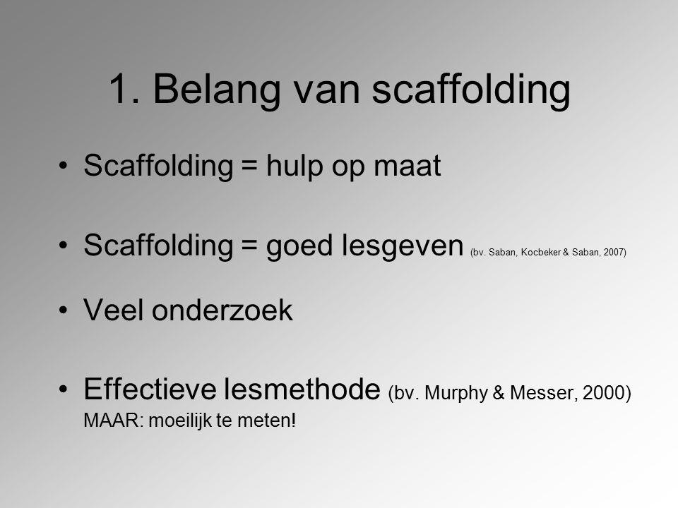 1. Belang van scaffolding