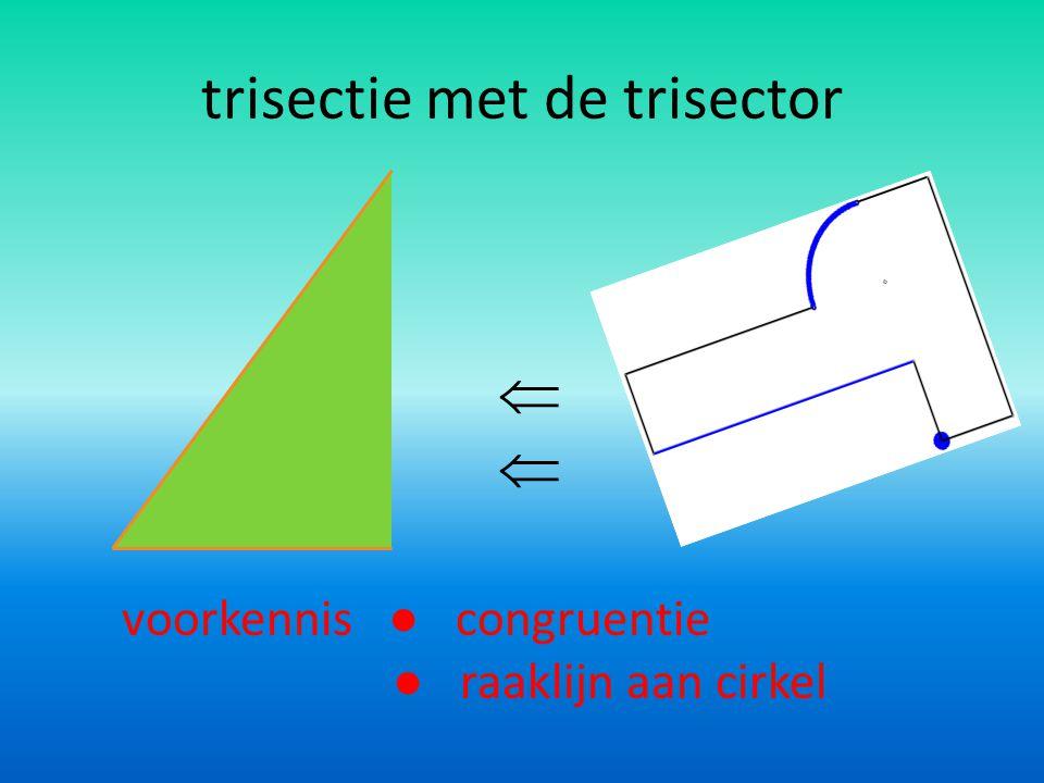 trisectie met de trisector