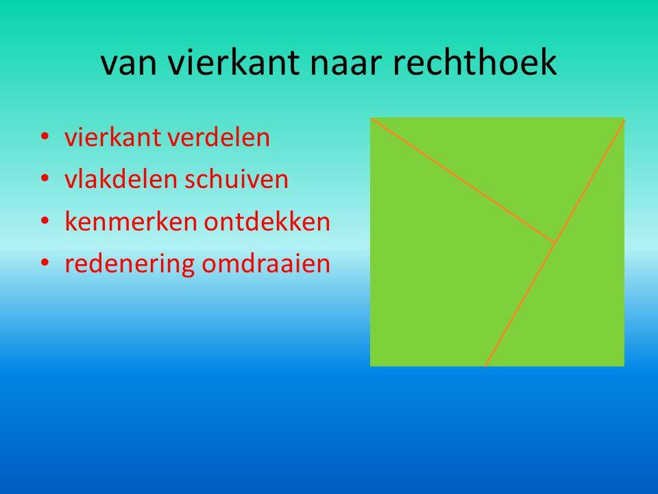 van vierkant naar rechthoek