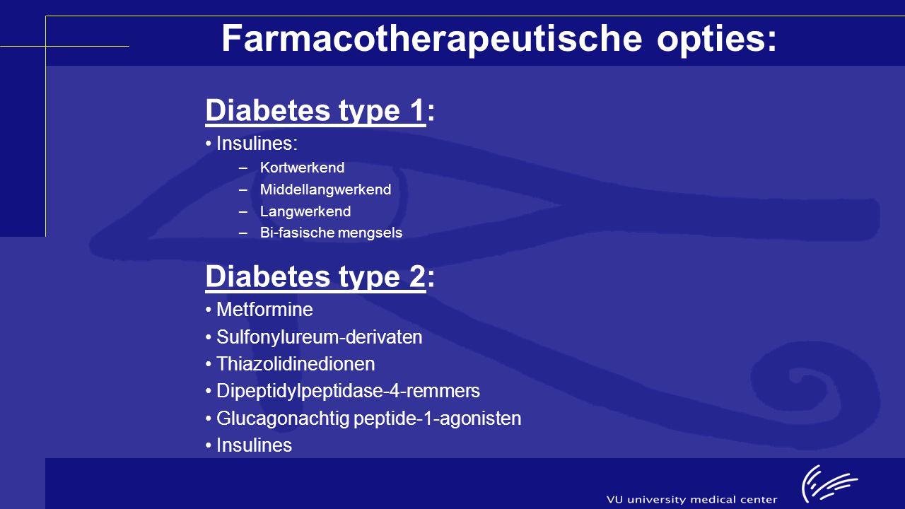 Farmacotherapeutische opties: