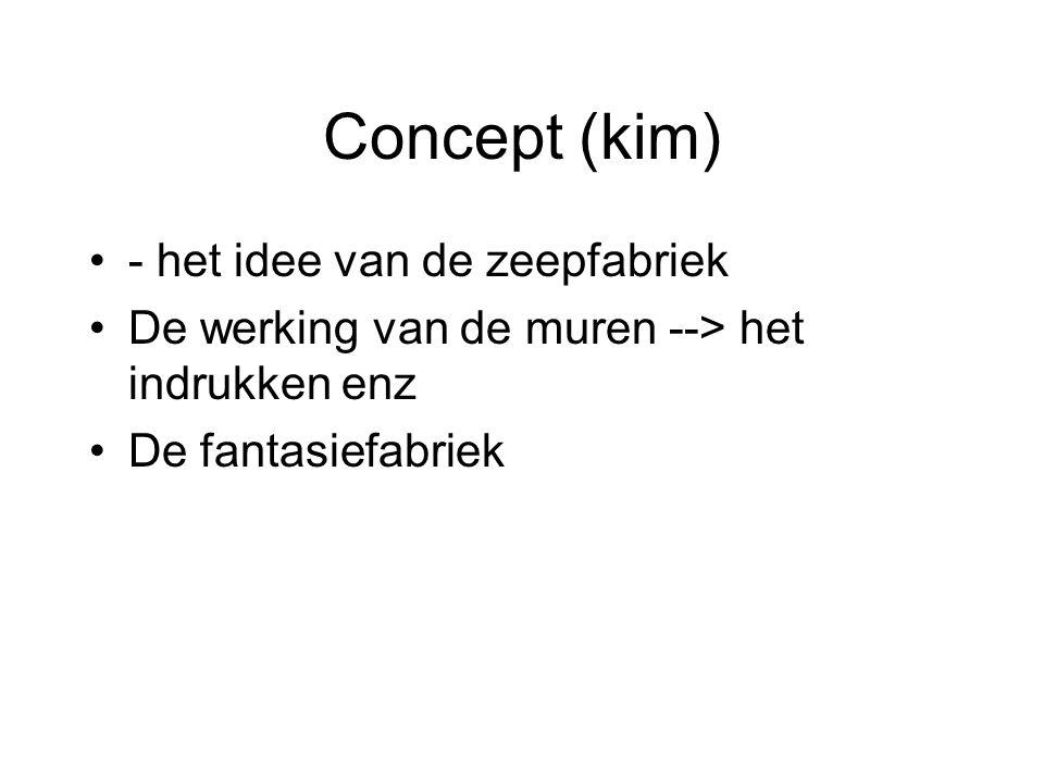 Concept (kim) - het idee van de zeepfabriek