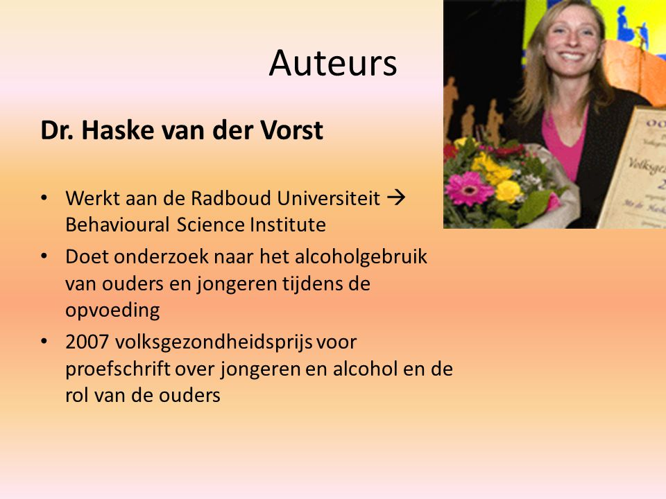 Auteurs Dr. Haske van der Vorst