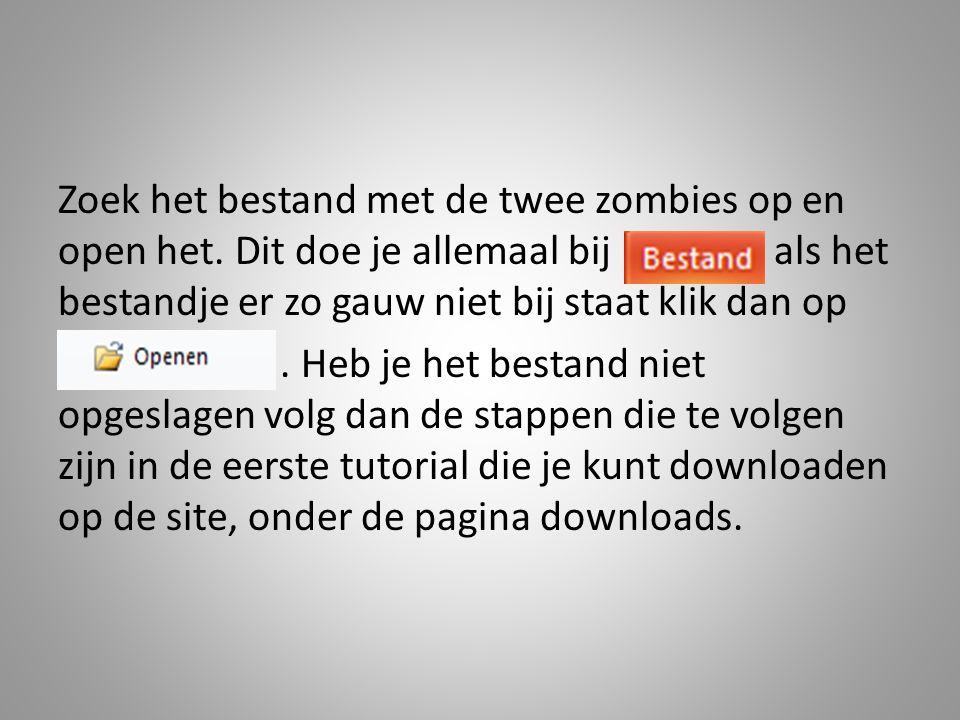 Zoek het bestand met de twee zombies op en open het