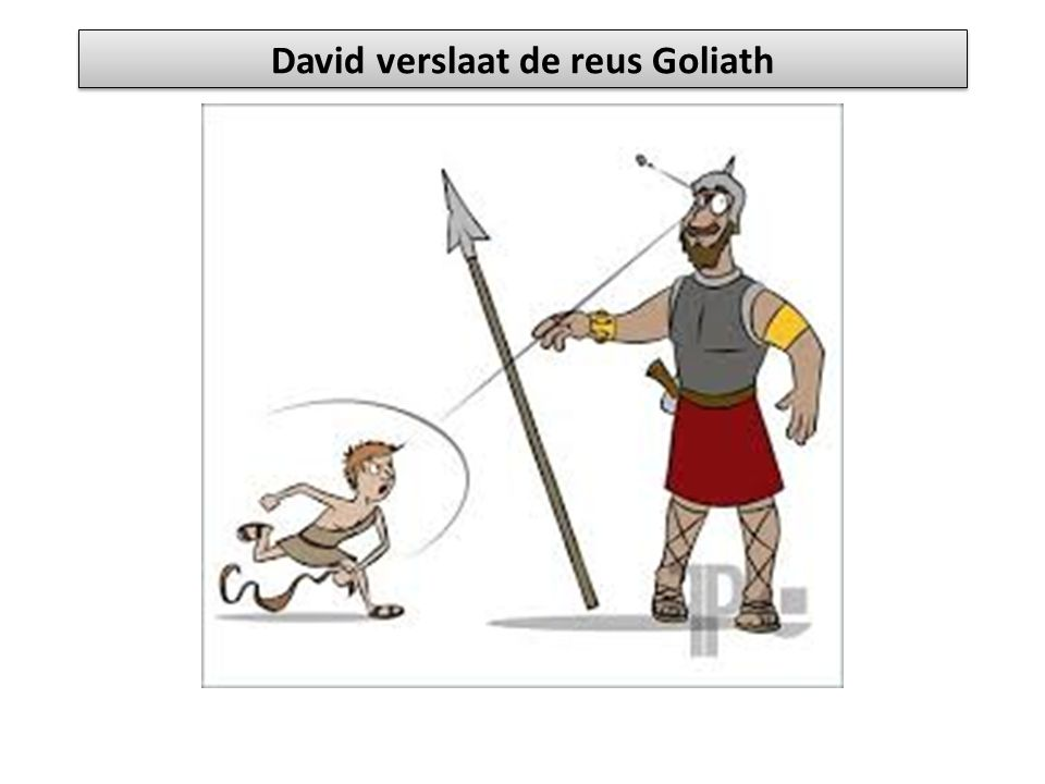 David verslaat de reus Goliath