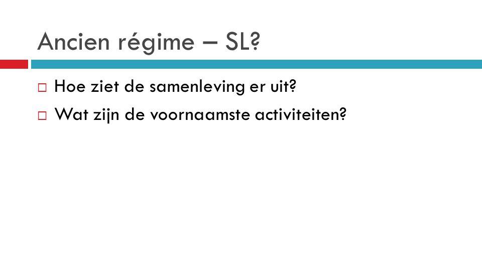 Ancien régime – SL Hoe ziet de samenleving er uit