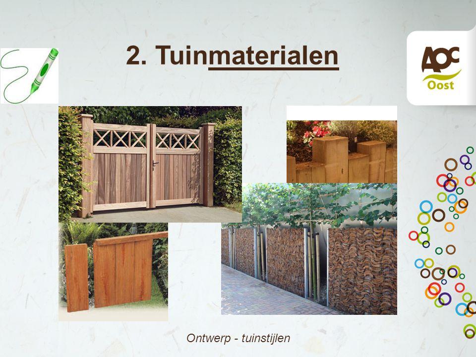 2. Tuinmaterialen Ontwerp - tuinstijlen