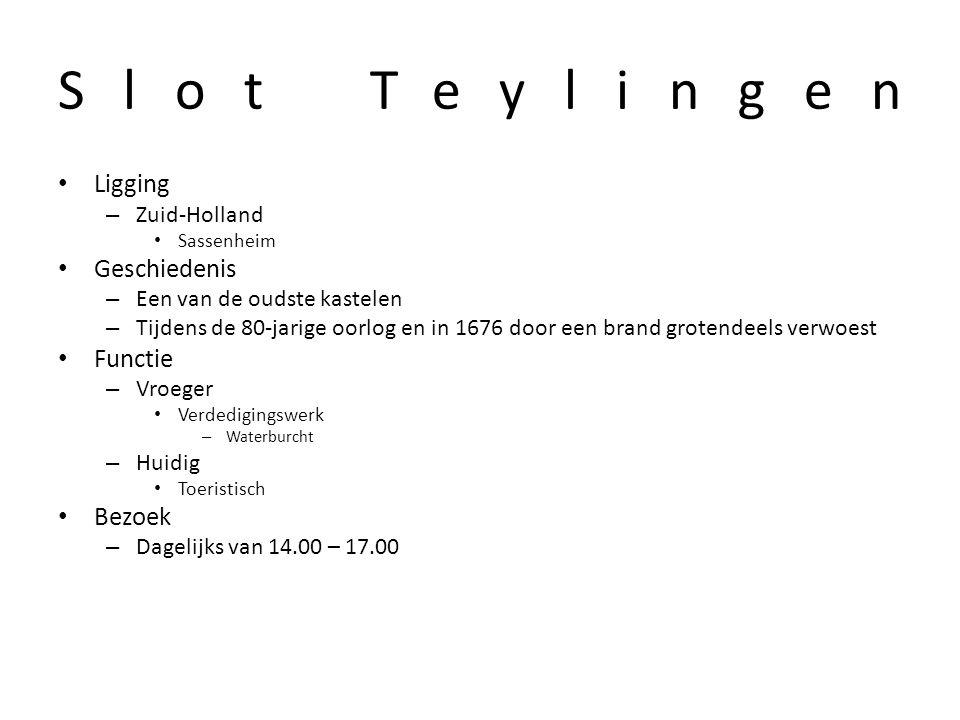Slot Teylingen Ligging Geschiedenis Functie Bezoek Zuid-Holland