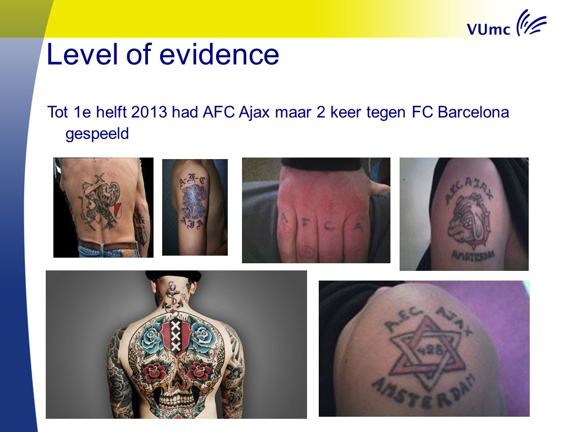 Welkom in VUmc Level of evidence.