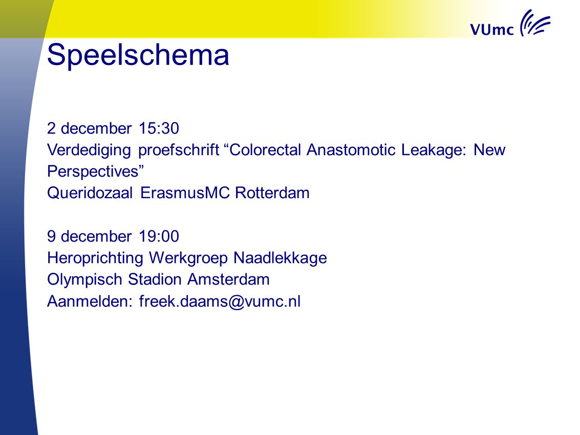 Speelschema 2 december 15:30