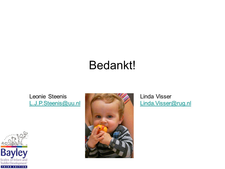 Bedankt! Leonie Steenis Linda Visser