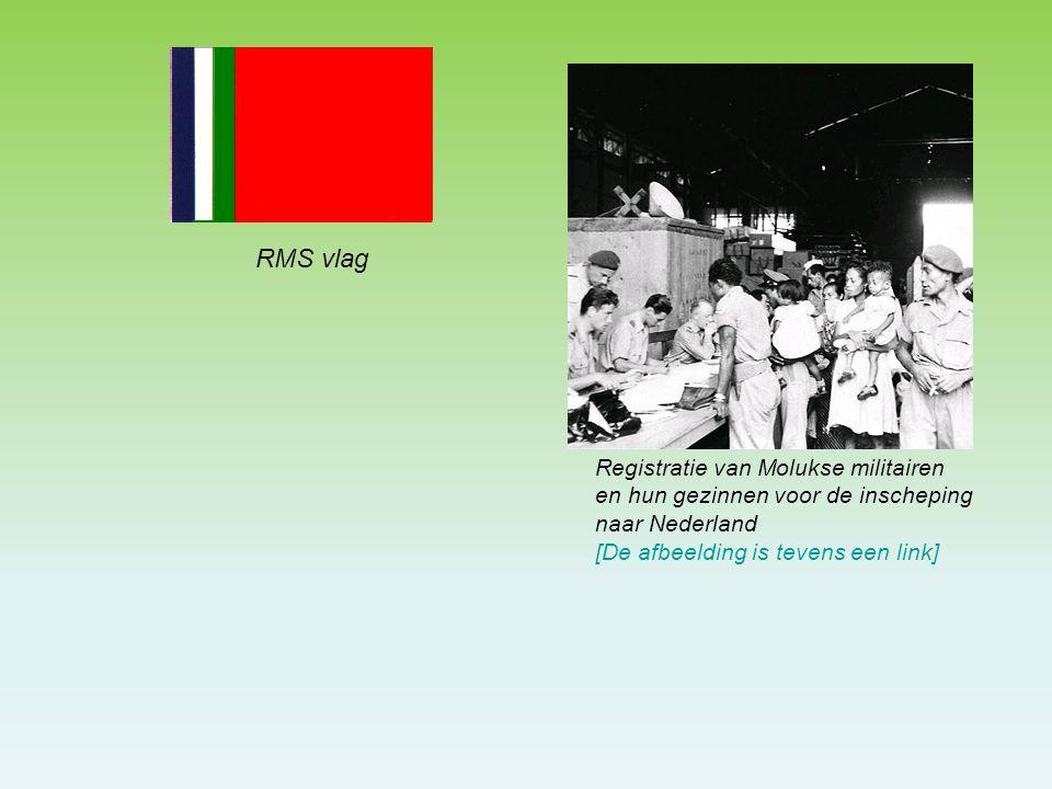 RMS vlag Registratie van Molukse militairen