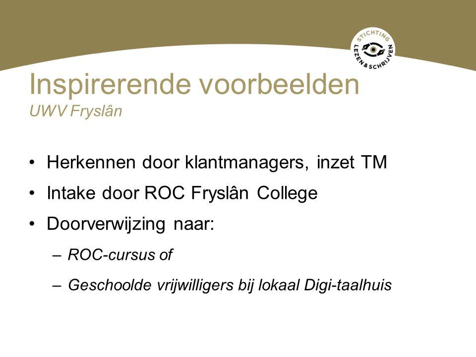 Inspirerende voorbeelden UWV Fryslân