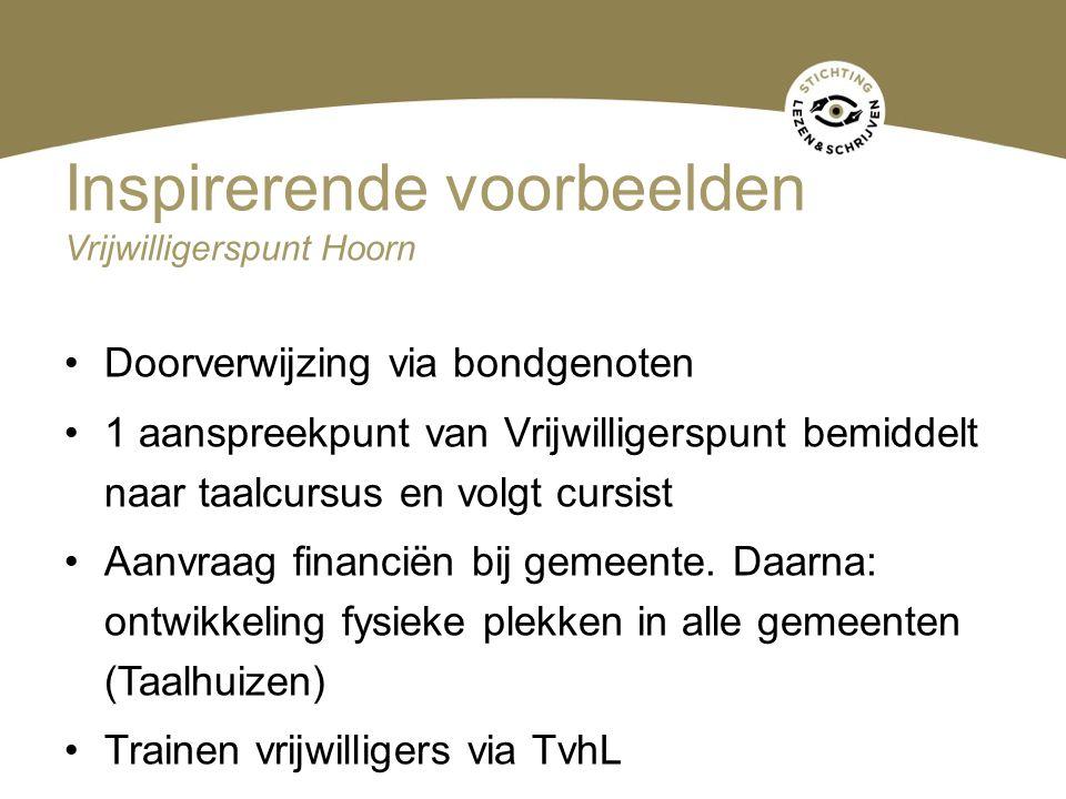 Inspirerende voorbeelden Vrijwilligerspunt Hoorn