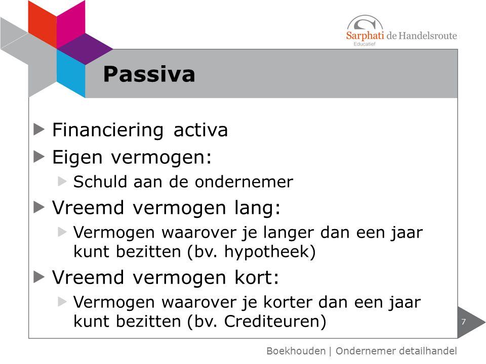 Passiva Financiering activa Eigen vermogen: Vreemd vermogen lang: