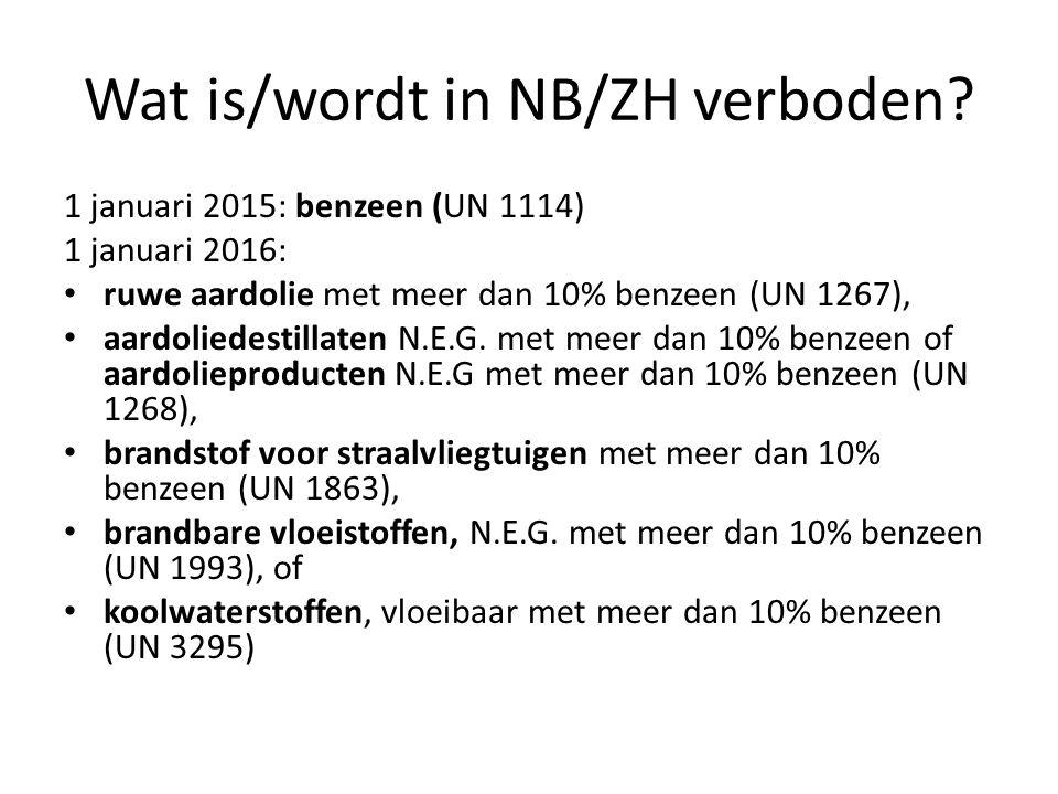 Wat is/wordt in NB/ZH verboden