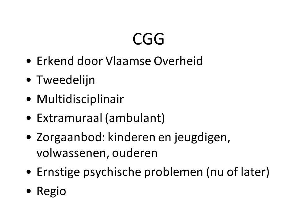 CGG Erkend door Vlaamse Overheid Tweedelijn Multidisciplinair