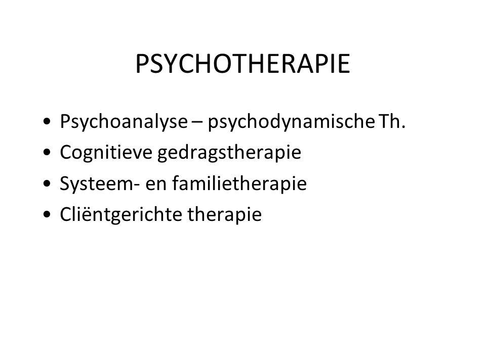 PSYCHOTHERAPIE Psychoanalyse – psychodynamische Th.