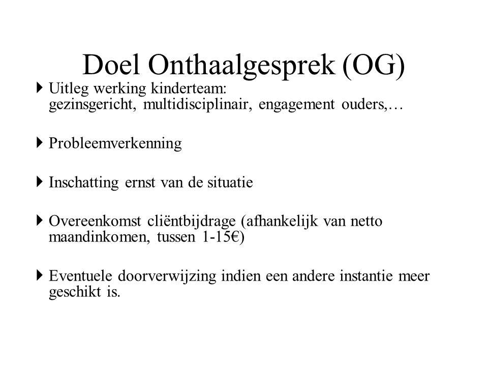 Doel Onthaalgesprek (OG)