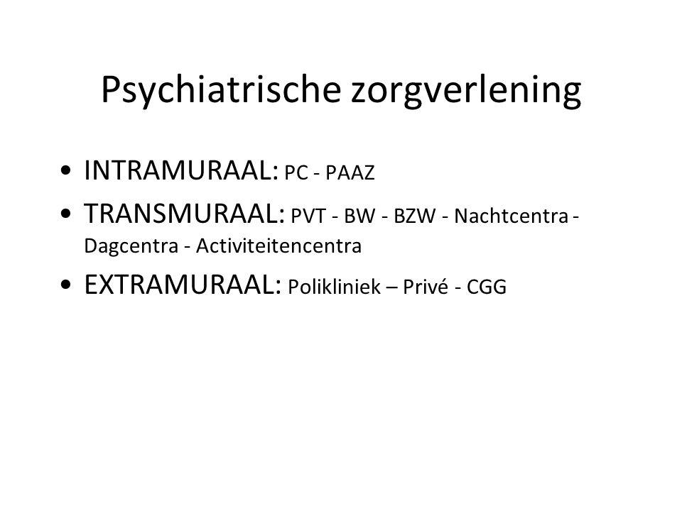 Psychiatrische zorgverlening