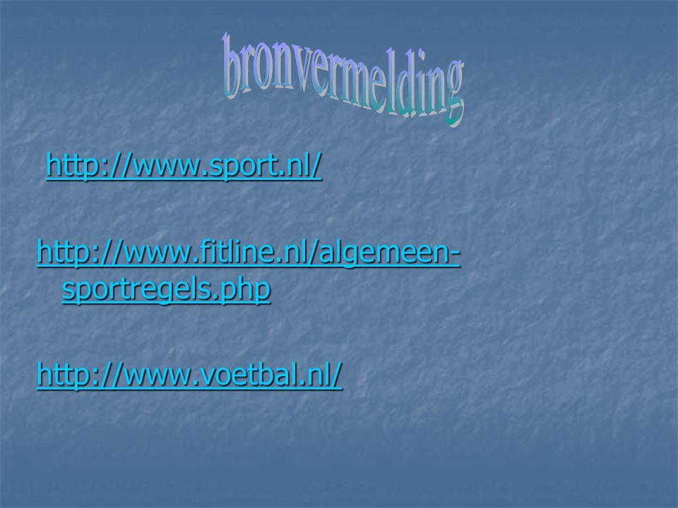 bronvermelding http://www.sport.nl/