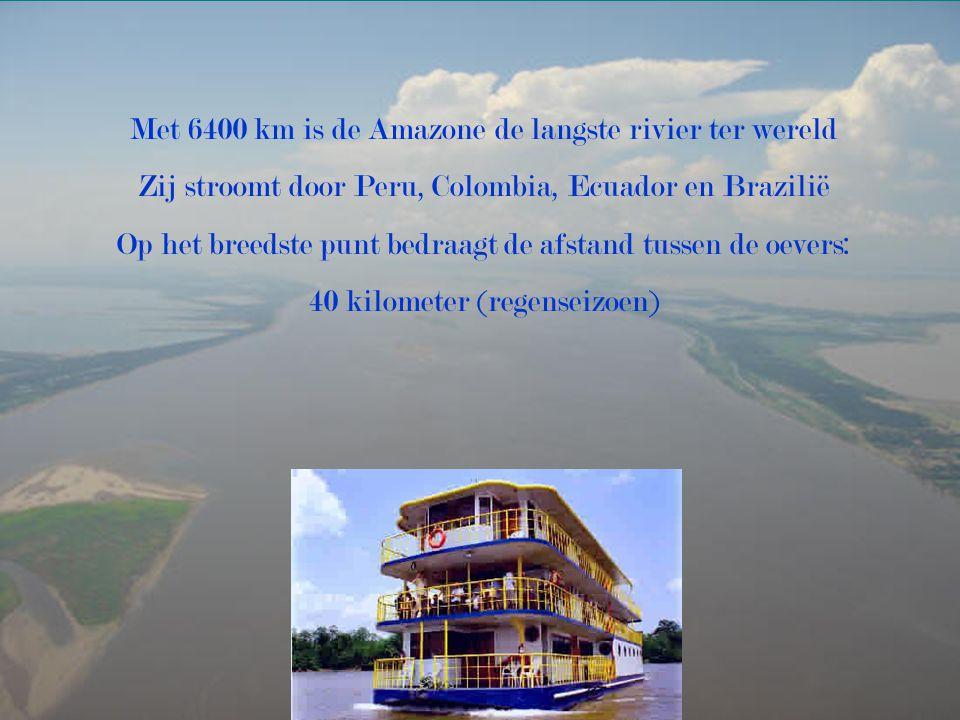 Met 6400 km is de Amazone de langste rivier ter wereld