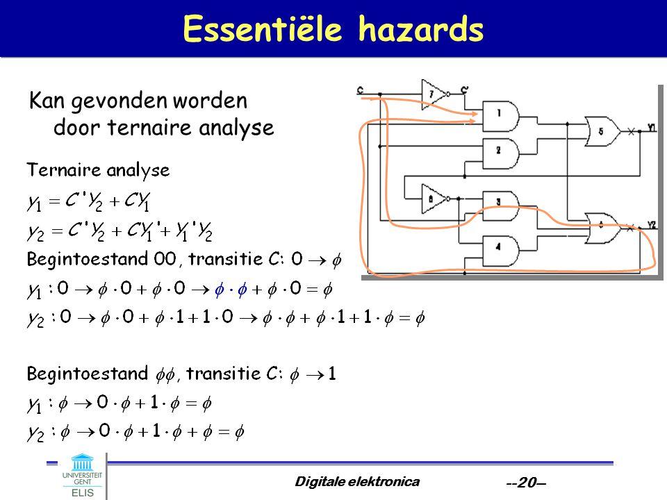 Essentiële hazards Kan gevonden worden door ternaire analyse
