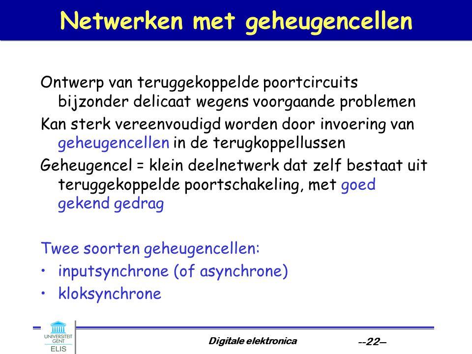 Netwerken met geheugencellen