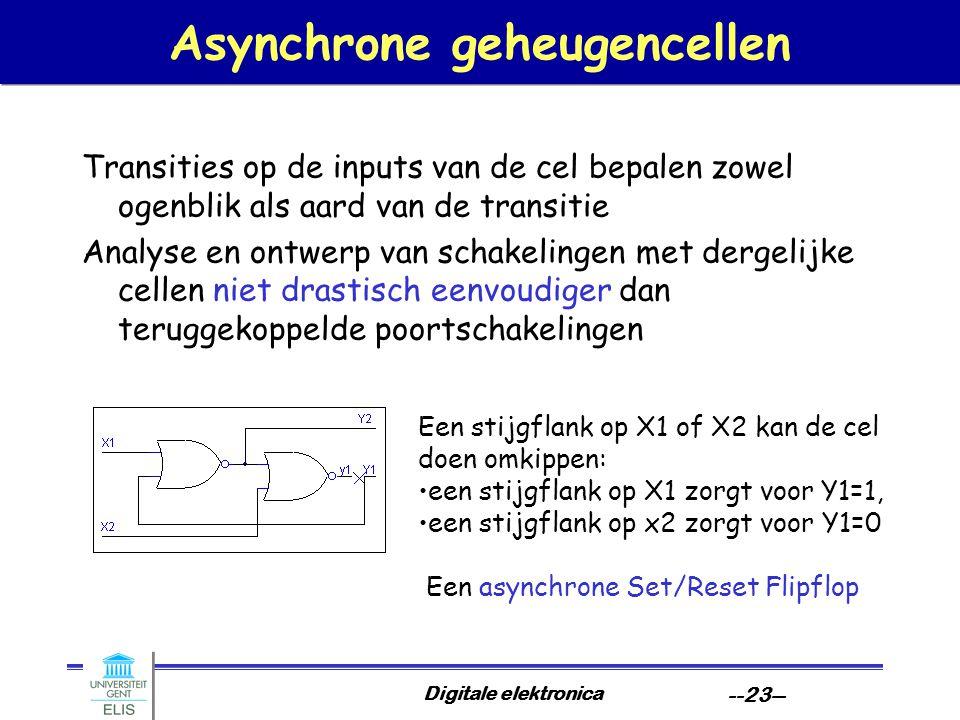 Asynchrone geheugencellen