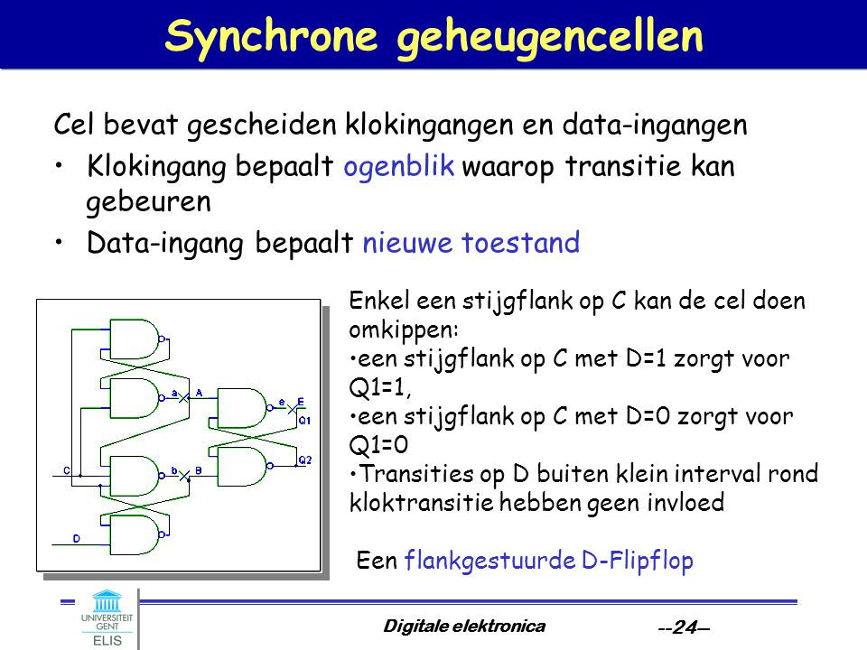 Synchrone geheugencellen