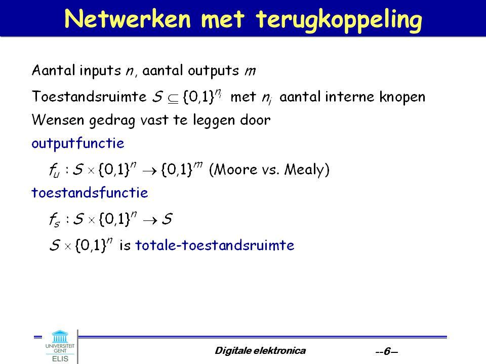 Netwerken met terugkoppeling