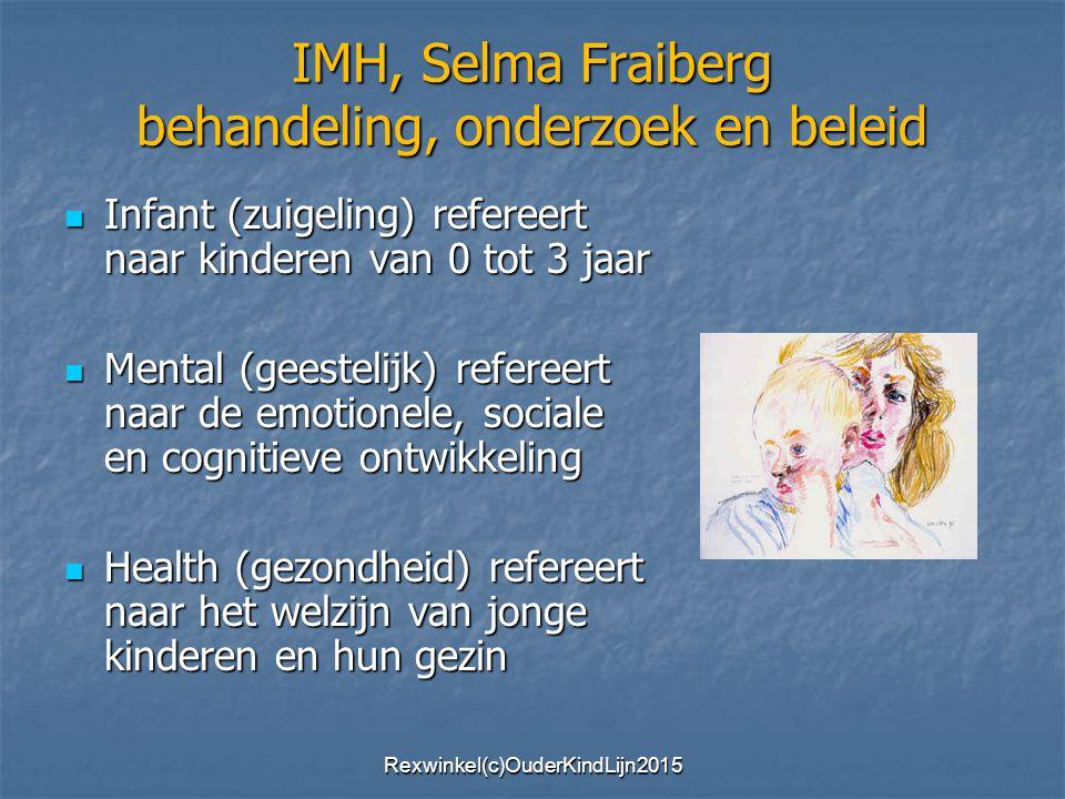 IMH, Selma Fraiberg behandeling, onderzoek en beleid