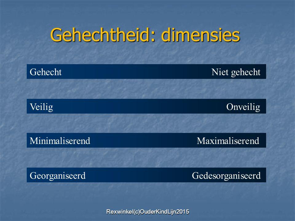 Gehechtheid: dimensies