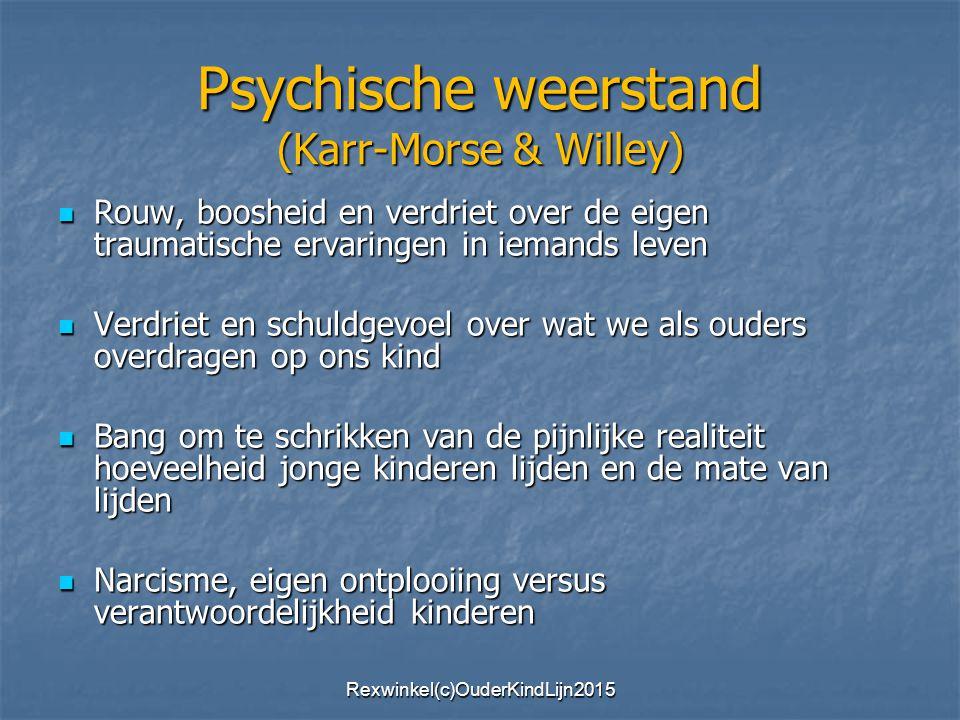 Psychische weerstand (Karr-Morse & Willey)