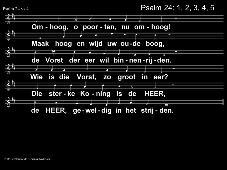 Psalm 24: 1, 2, 3, 4, 5