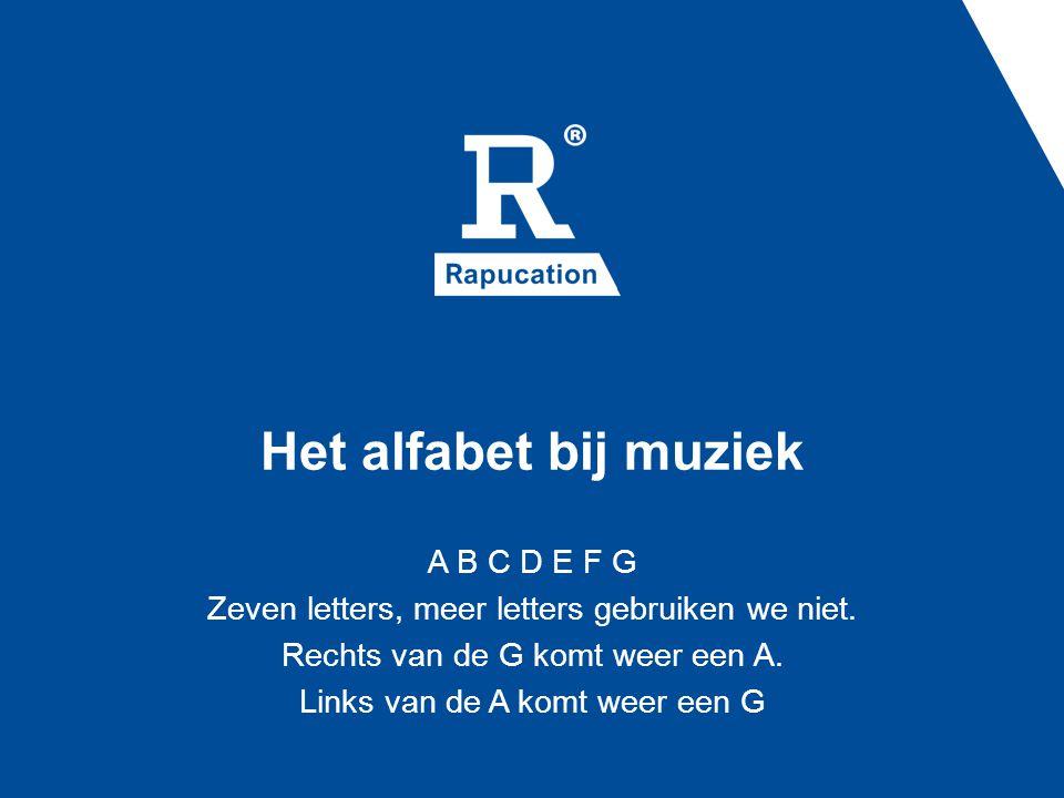 Het alfabet bij muziek A B C D E F G