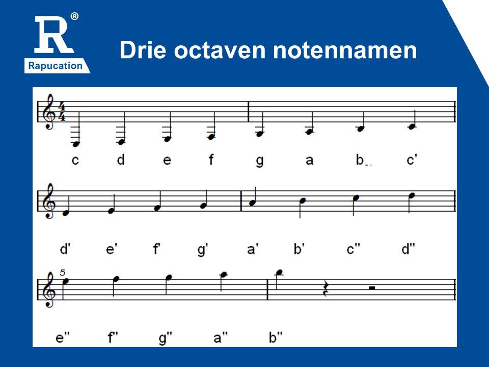 Drie octaven notennamen