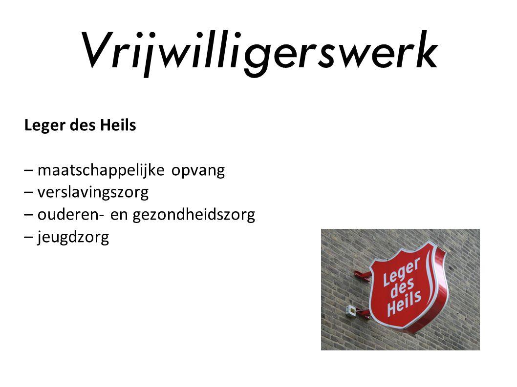 Vrijwilligerswerk Leger des Heils – maatschappelijke opvang