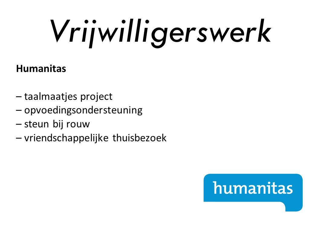 Vrijwilligerswerk Humanitas – taalmaatjes project