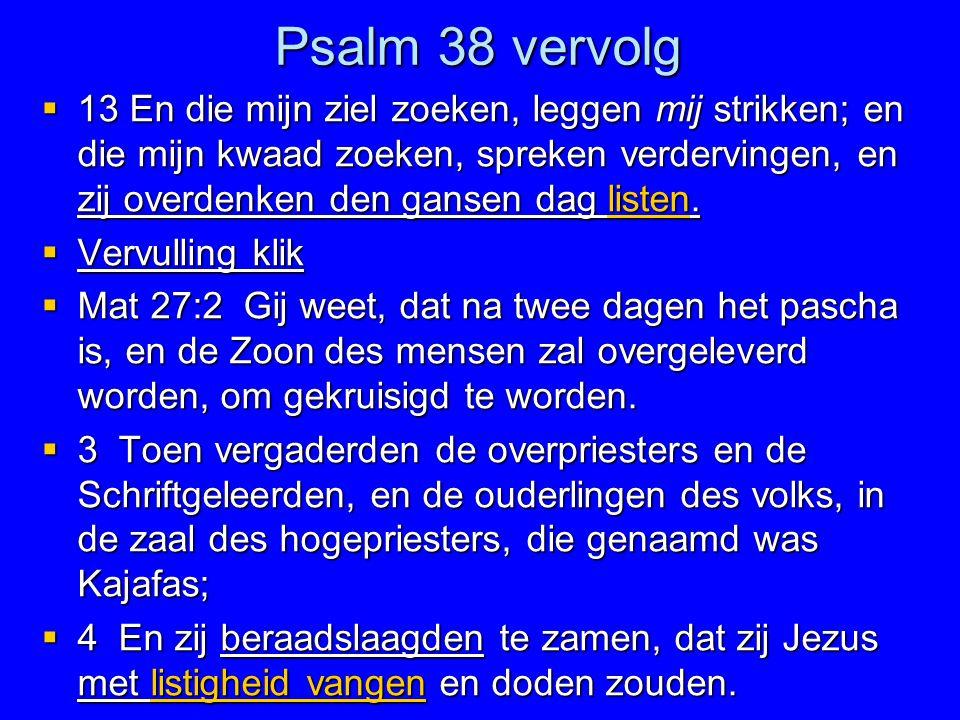Psalm 38 vervolg