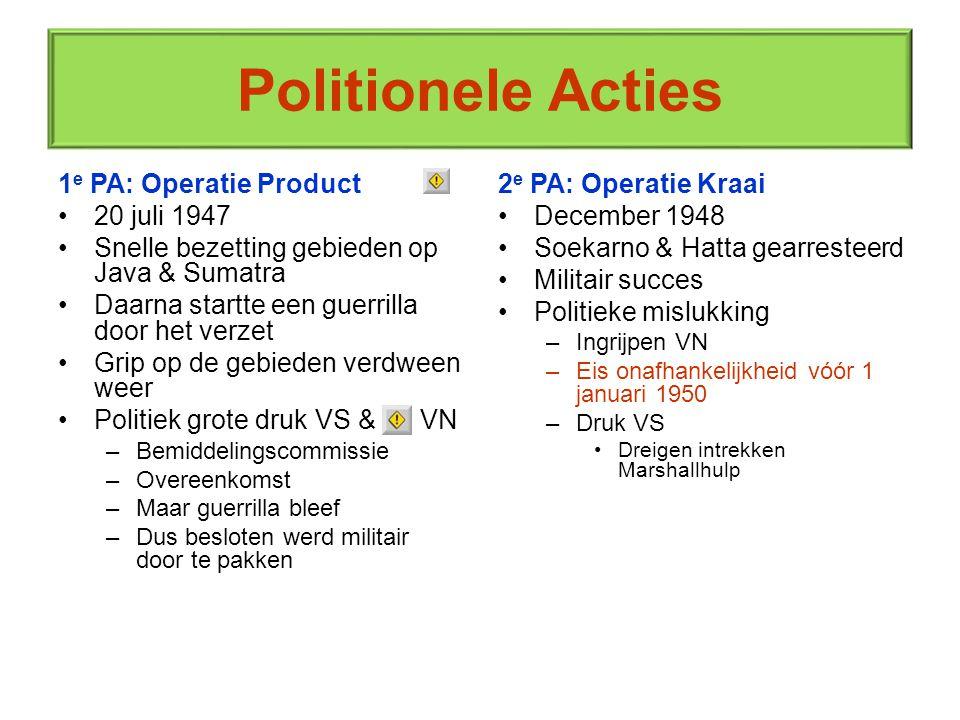 Politionele Acties 1e PA: Operatie Product 20 juli 1947