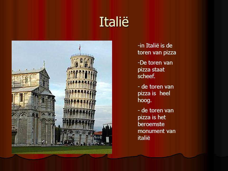 Italië -in Italië is de toren van pizza